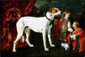 Jan Fyt (Joannes Fijt), Big Dog, dwarf and boy, 1652